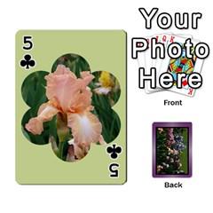 Iris 54 Design Card Deck Purple By Ellan   Playing Cards 54 Designs   H8ric8u3l2ao   Www Artscow Com Front - Club5