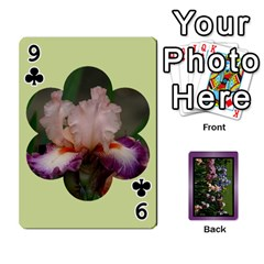 Iris 54 Design Card Deck Purple By Ellan   Playing Cards 54 Designs   H8ric8u3l2ao   Www Artscow Com Front - Club9