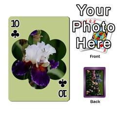 Iris 54 Design Card Deck Purple By Ellan   Playing Cards 54 Designs   H8ric8u3l2ao   Www Artscow Com Front - Club10