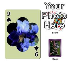 Iris 54 Design Card Deck Purple By Ellan   Playing Cards 54 Designs   H8ric8u3l2ao   Www Artscow Com Front - Spade9