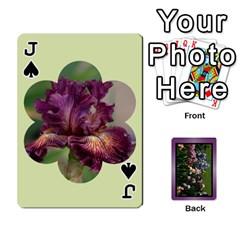 Jack Iris 54 Design Card Deck Purple By Ellan   Playing Cards 54 Designs   H8ric8u3l2ao   Www Artscow Com Front - SpadeJ