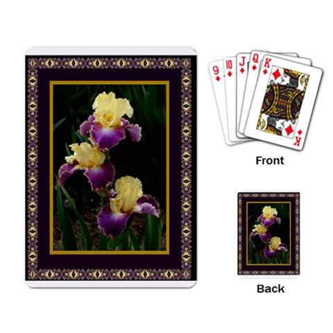 Iris 1 Single Design Cards By Ellan   Playing Cards Single Design   0p1pgowz5zoi   Www Artscow Com Back