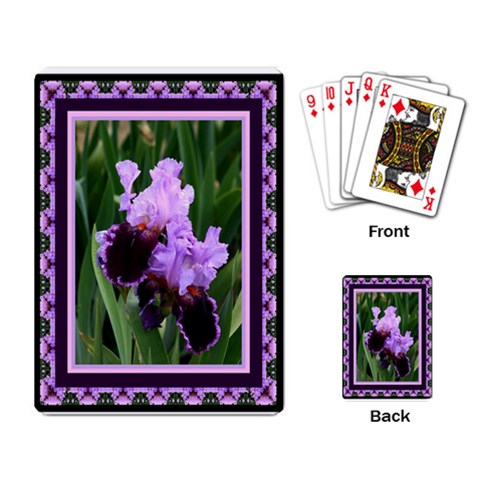 Iris 2 Playing Cards By Ellan   Playing Cards Single Design   Mx9p37a7fuq5   Www Artscow Com Back