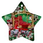 snowmen 2010 ornament 44 - Ornament (Star)