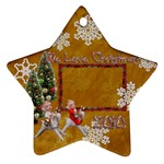 angels on reindeer 2010 ornament 55 - Ornament (Star)