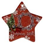 sleigh peace love joy 2010 ornament 66 - Ornament (Star)