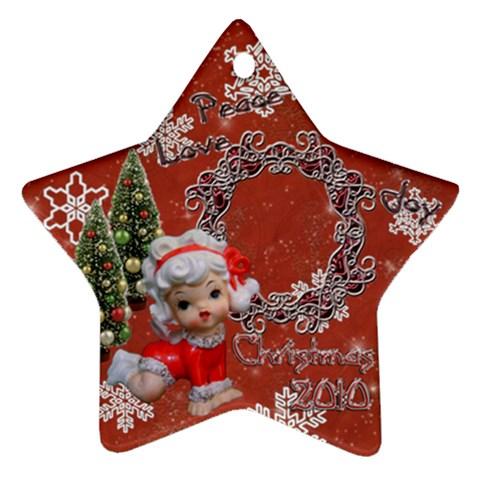 Angel Peace Love Joy 2010 Ornament 67 By Ellan   Ornament (star)   Dxtpr06zctiz   Www Artscow Com Front