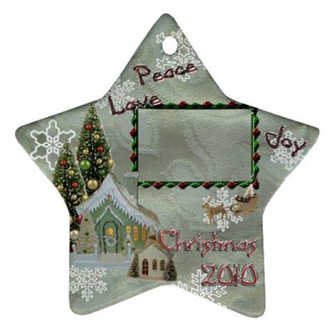 Village Peace Love Joy 2010 Ornament 74 By Ellan   Ornament (star)   Eylcy7aodsfj   Www Artscow Com Front