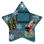 lantern girl 2010 ornament 85 - Ornament (Star)