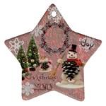 snowman 2010 ornament 96 - Ornament (Star)