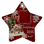 village candy cane 2010 ornament 105 - Ornament (Star)