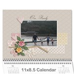 Calendar Template- Our Family - Wall Calendar 11  x 8.5  (12-Months)