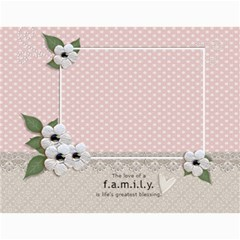 Calendar Template  Our Family By Jennyl   Wall Calendar 11  X 8 5  (12 Months)   Spq193bty4rx   Www Artscow Com Month