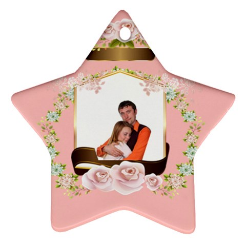 Pink Love By Wood Johnson   Ornament (star)   2idcq711yonr   Www Artscow Com Front