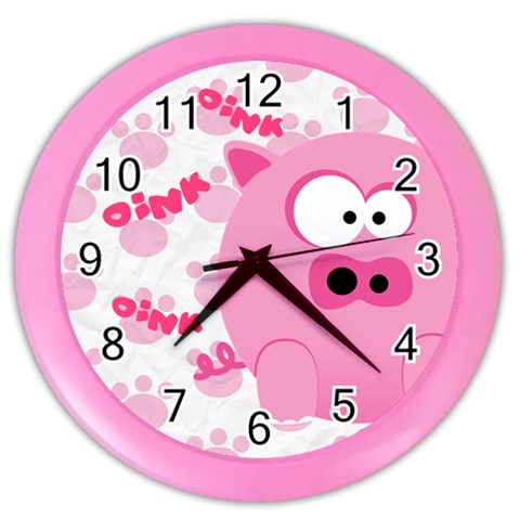 Animaland Clock 01 By Carol   Color Wall Clock   Ya1dcnp6u9vk   Www Artscow Com Front