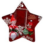 elf elves 2010 ornament  128 - Ornament (Star)
