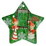 elf elves bells 2010 ornament  133 - Ornament (Star)