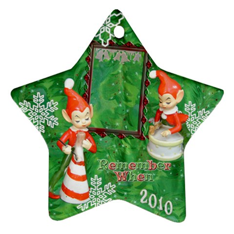 Elf Elves Bells Remember When 2010 Ornament  134 By Ellan   Ornament (star)   Jqb68w0v6u0w   Www Artscow Com Front