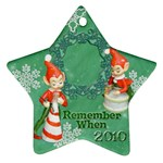 elf elves bells remember when 2010 ornament  135 - Ornament (Star)