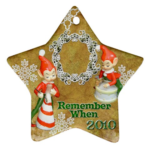 Elf Elves Bells Remember When 2010 Ornament  137 By Ellan   Ornament (star)   Vk13mzyx3j3x   Www Artscow Com Front