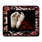 Baby s First Christmas mousemat 1 - Large Mousepad