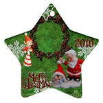 elf santa babies Merry Christmas 2010 ornament  139 - Ornament (Star)