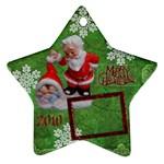 santa baby Angels Merry Christmas 2010 ornament  140 - Ornament (Star)