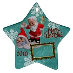 santa baby Angels Merry Christmas 2010 ornament 147 - Ornament (Star)
