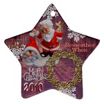 santa baby Angels Merry Christmas 2010 ornament 149 - Ornament (Star)