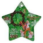 Angels reindeer remember when 2010 ornament 153 - Ornament (Star)