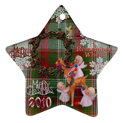 Angels Reindeer Remember When 2010 Ornament 154 By Ellan   Ornament (star)   Pyiwevw4wvt0   Www Artscow Com Front