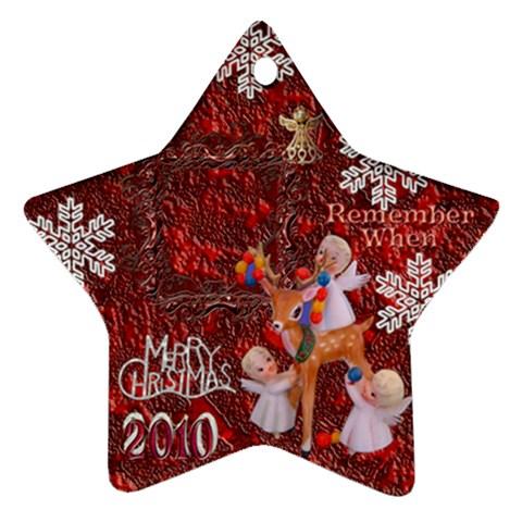 Angels Reindeer Remember When 2010 Ornament 156 By Ellan   Ornament (star)   Yvdrnlu820tn   Www Artscow Com Front