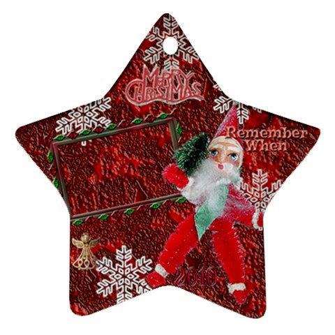 Santa Remember When 2010 Ornament 170 By Ellan   Ornament (star)   4ui2owczpujo   Www Artscow Com Front