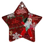 santa remember when 2010 ornament 170 - Ornament (Star)