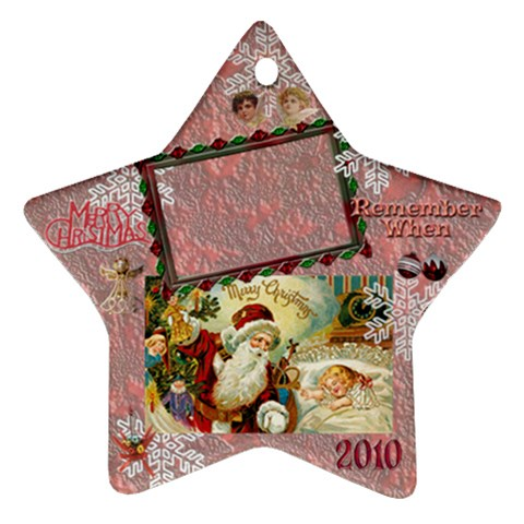 Santa Remember When 2010 Ornament 176 By Ellan   Ornament (star)   S5xw35fxf03m   Www Artscow Com Front