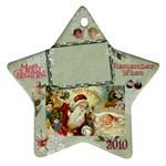 santa remember when 2010 ornament 178 - Ornament (Star)