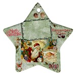 santa remember when 2010 ornament 183 - Ornament (Star)