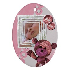 Baby Girl   Ornament By Carmensita   Oval Ornament (two Sides)   Fi2ypvll3qpb   Www Artscow Com Front