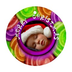 Christmas   Ornament By Carmensita   Round Ornament (two Sides)   6gtlayttq2i3   Www Artscow Com Front