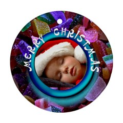 Christmas   Ornament By Carmensita   Round Ornament (two Sides)   Yobu4mp15vq5   Www Artscow Com Front