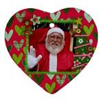 Holiday Tree & Heart ornament - Ornament (Heart)