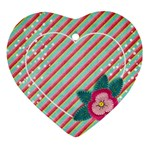 Poinsettia ornament - Ornament (Heart)