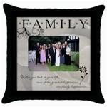 Family Throw Cushion #1 - Throw Pillow Case (Black)