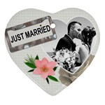 Just Married Ornament - Heart Ornament (Two Sides)