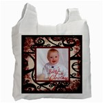 fantasia baby s first christmas classic claret 2 sided recycle bag - Recycle Bag (Two Side)