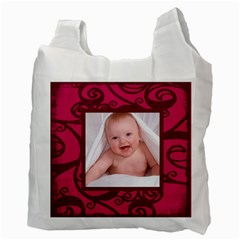 Fantasia Santa Baby Pinks 2 Sided Recycle Bag By Catvinnat   Recycle Bag (two Side)   Qbvq0ygdlhs2   Www Artscow Com Back