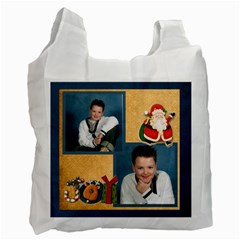 Santa Christmas Joy 2 Sided Recycle Bag By Catvinnat   Recycle Bag (two Side)   Deg16kzszqoh   Www Artscow Com Front