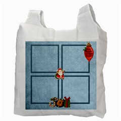 Happy Holidays 2 Sided Recycle Bag By Catvinnat   Recycle Bag (two Side)   22paq14hhsnj   Www Artscow Com Back