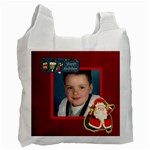 Happy holidays red 2 sided recycle bag - Recycle Bag (Two Side)