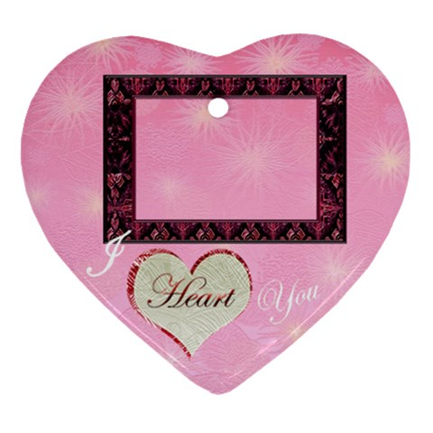 I Heart You Pink10  Ornament By Ellan   Ornament (heart)   Gcoftu9kzake   Www Artscow Com Front